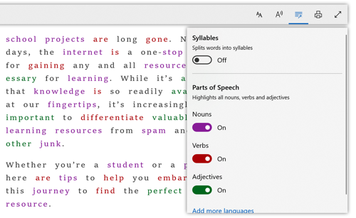 Grammar Tools in Microsoft Edge