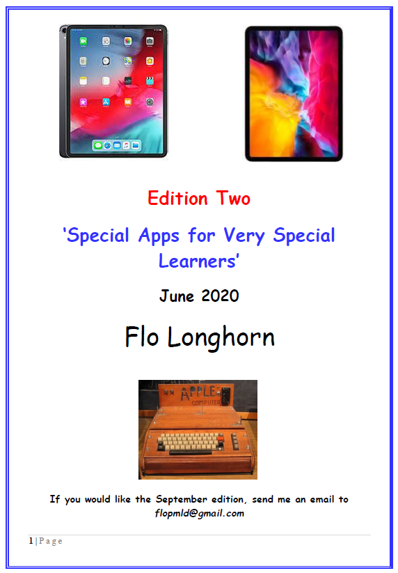 Front page of Special Apps for Very Special Learners