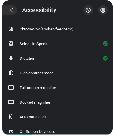 Chromebook Accessibility and Learning Tools