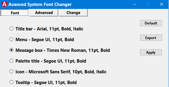 Advanced System Font Size Changer