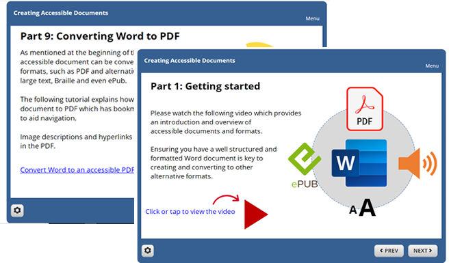 Example of Creating Accessible Learning Materials module