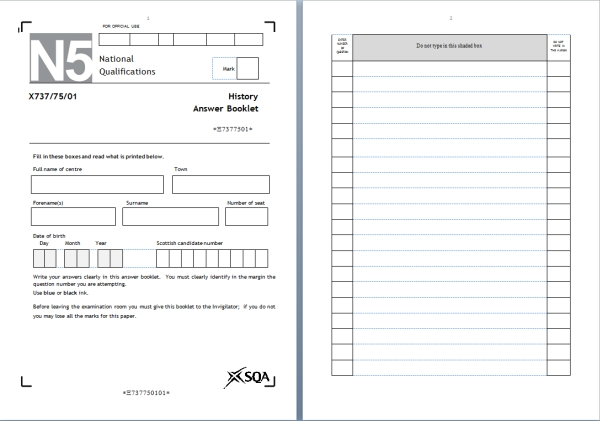 SQA past Papers for 2014 are Now Available