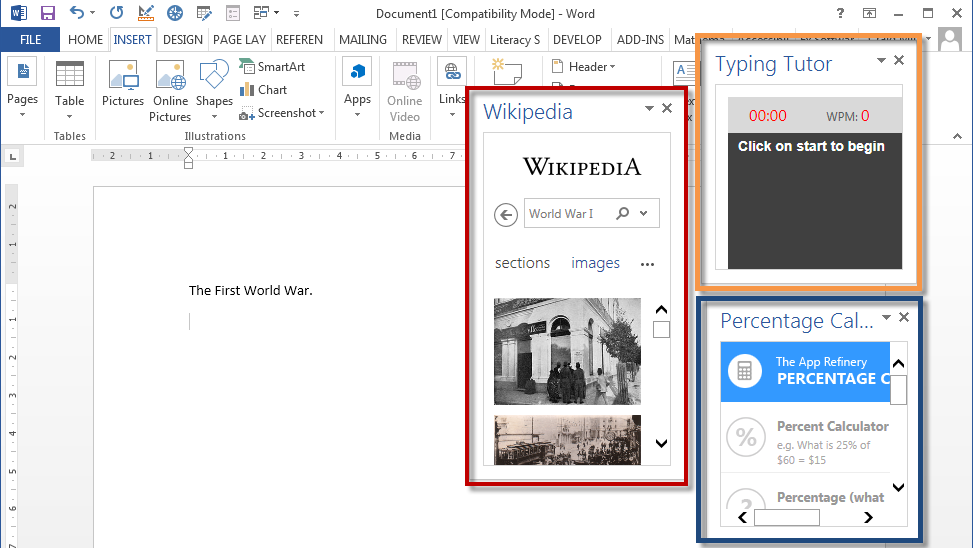 Apps for Microsoft Word