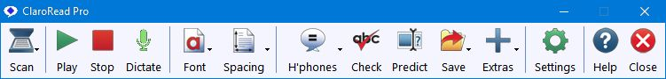 ClaroRead screen shot