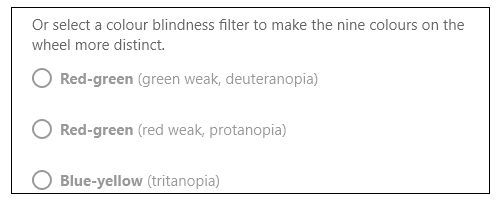 Colour blindness filters