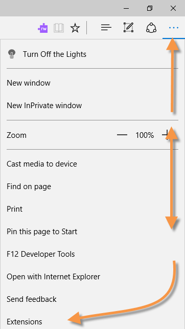 Extensions in Microsoft Edge