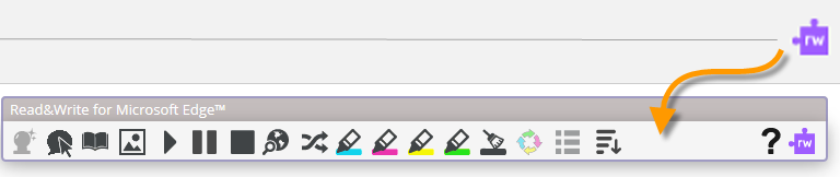 ReadWrite icon located on browser
