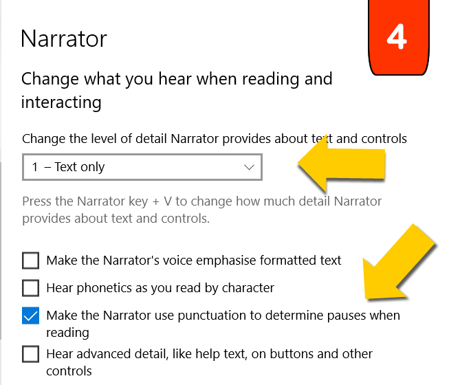 Change what you can hear when interacting