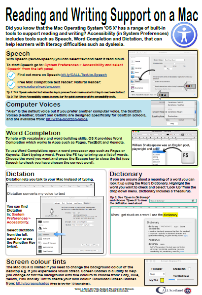 Reading and writing support on a mac poster
