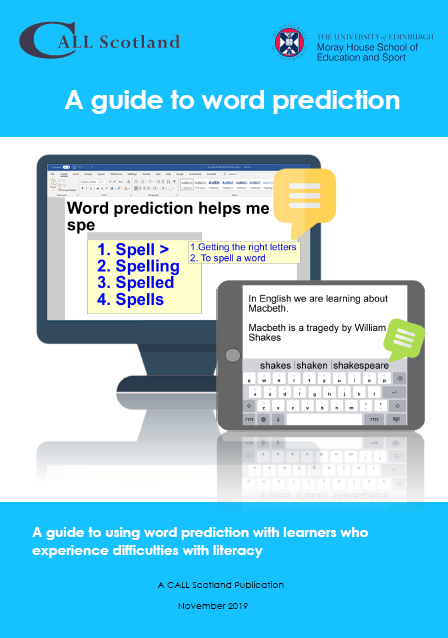 Word prediction cover
