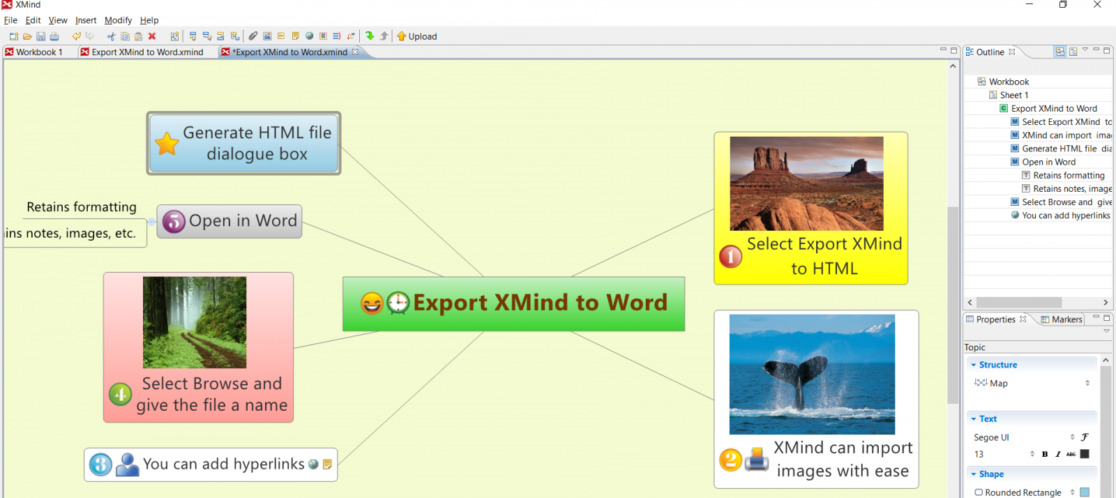 Example of Xmind